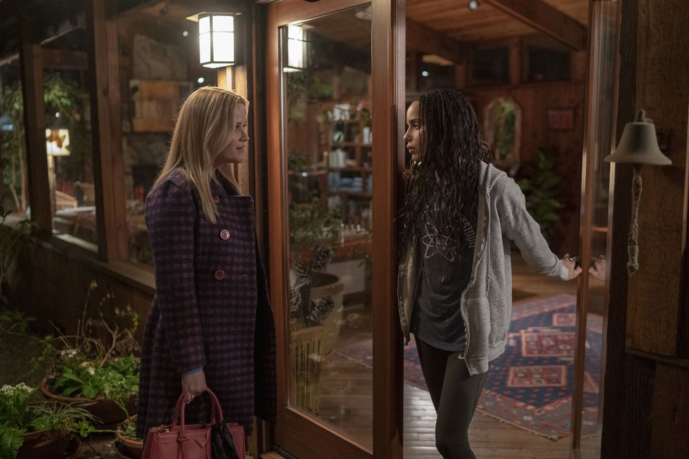 "Zoë Kravitz and Reese Witherspoon are featured in a still from Season 2 of ""Big Little Lies""."