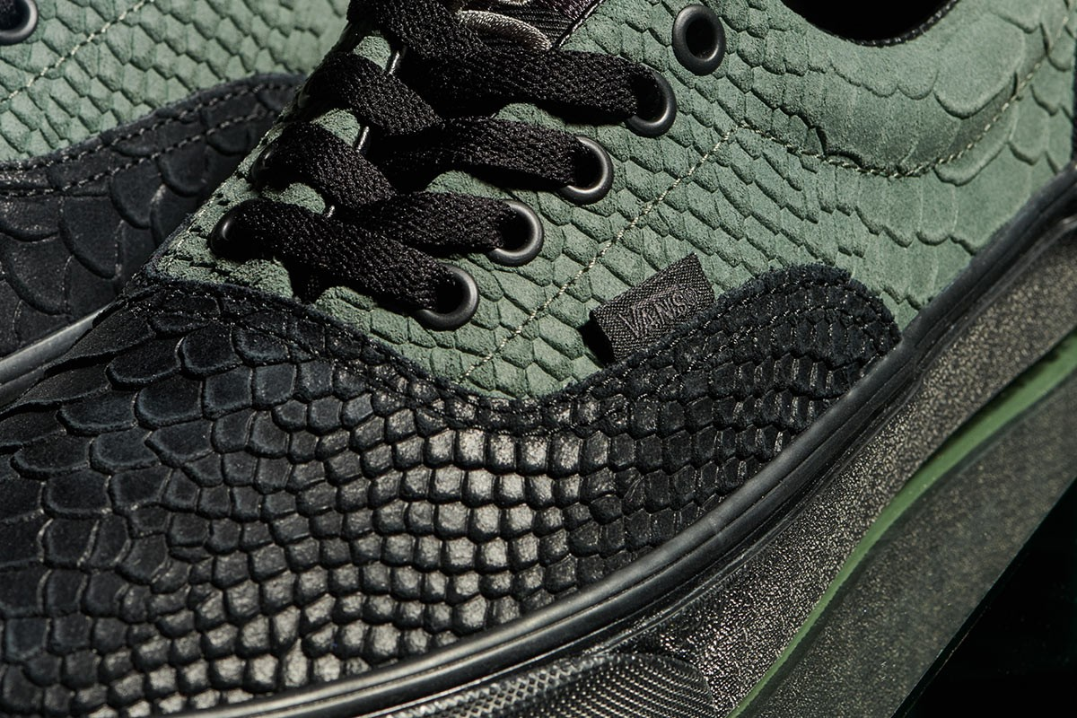 Slytherin Vans, in detail