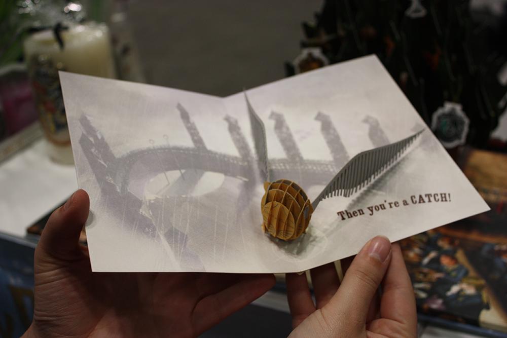 Quidditch pop-up card