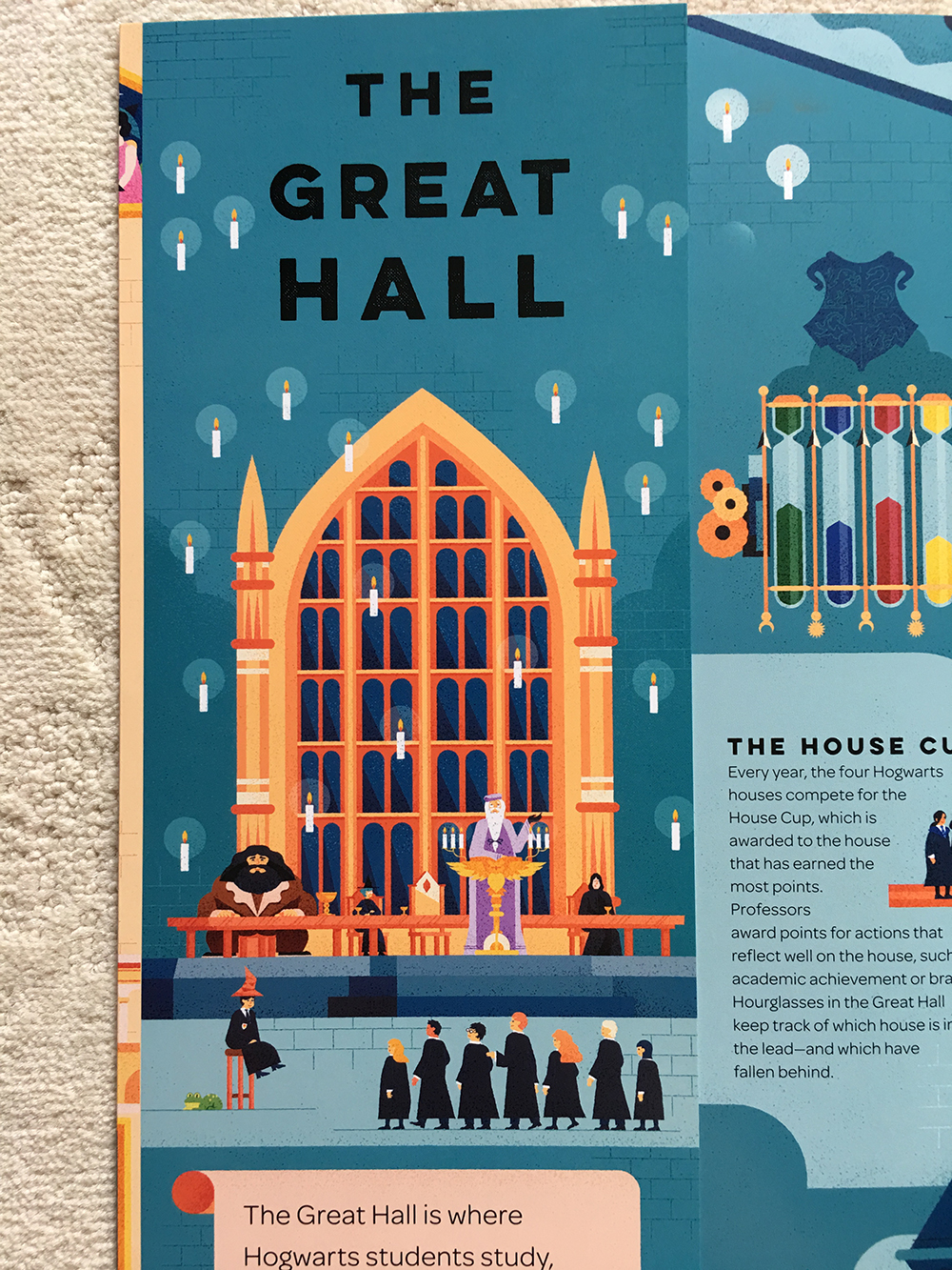 """Great Hall detail from """"Exploring Hogwarts"""""""