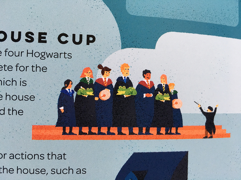 "Detail from ""Exploring Hogwarts"""