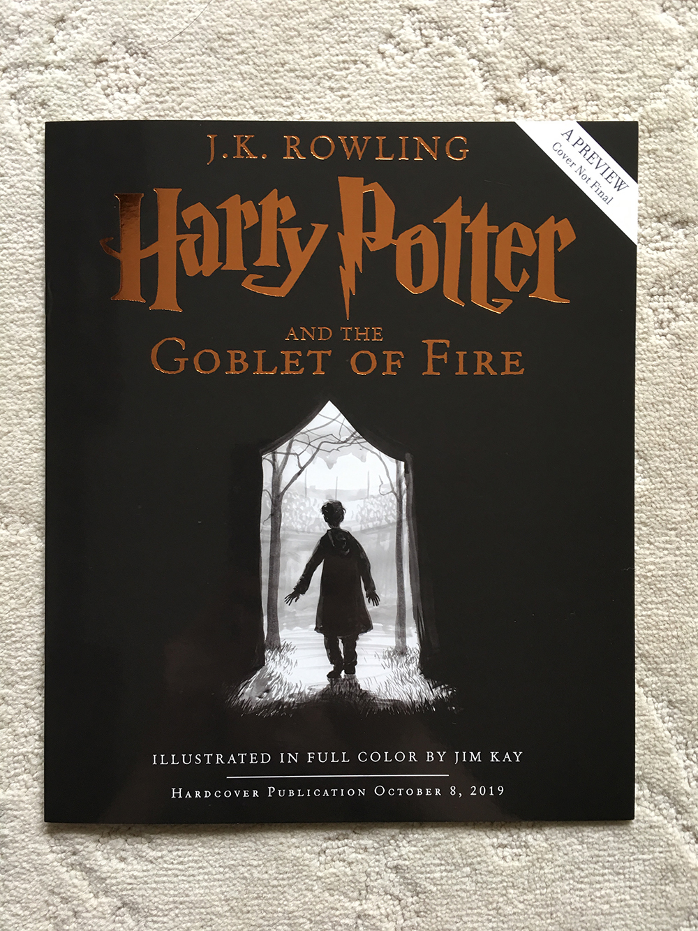 """Illustrated """"Goblet of Fire"""" preview booklet"""