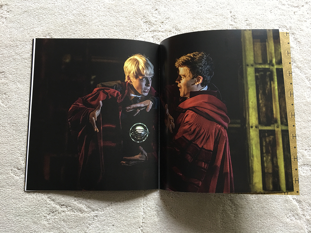 """Interior from """"Cursed Child: The Journey"""" preview booklet"""