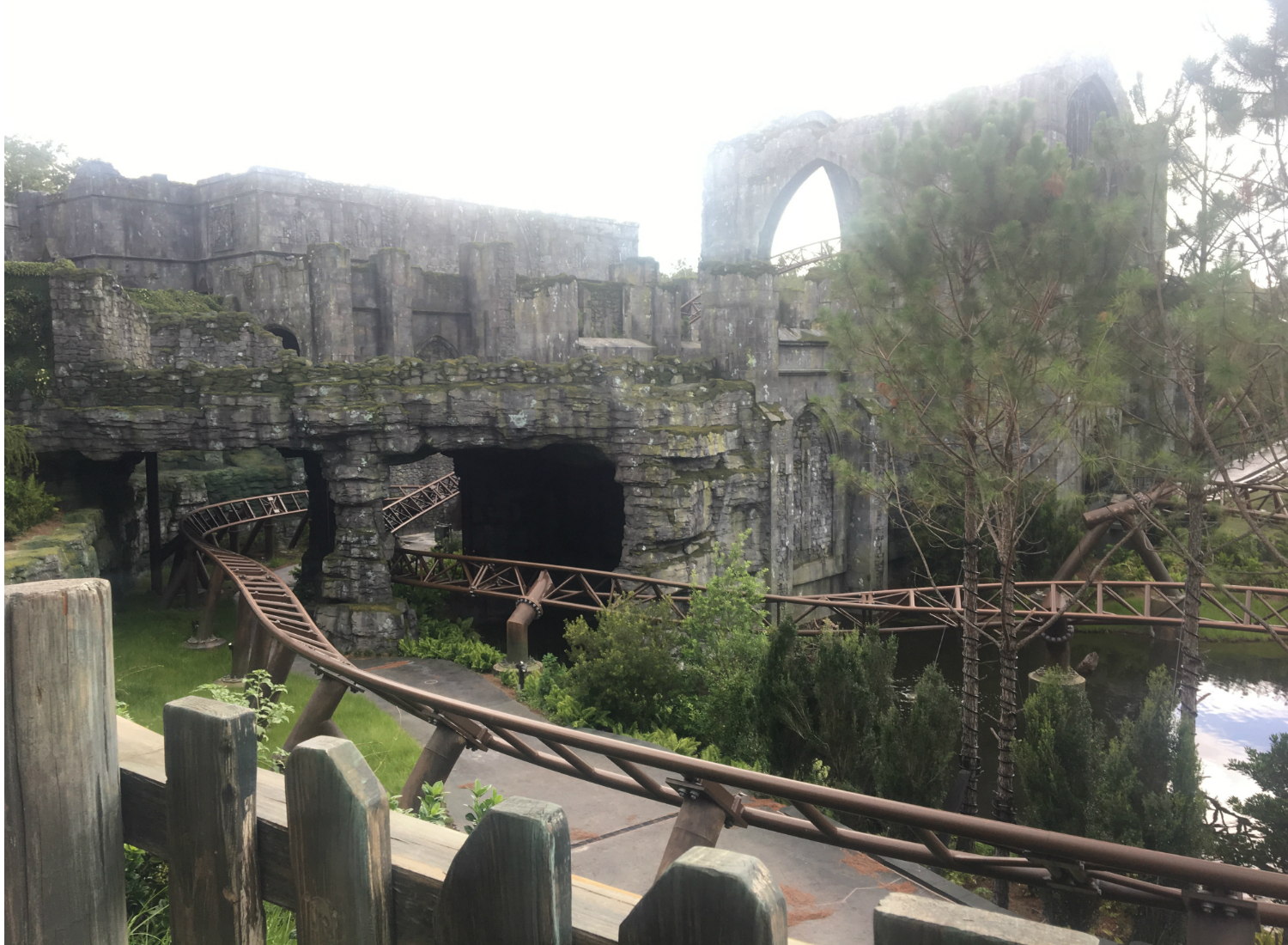Hagrid's Magical Creature Motorbike Adventure has lots of magical twists and turns along the tracks.