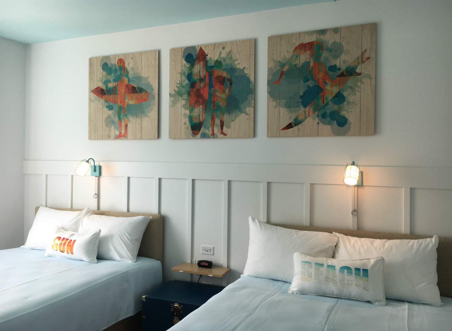 A standard room at Surfside Inn & Suites contains two queen beds and starts at just $73/night.
