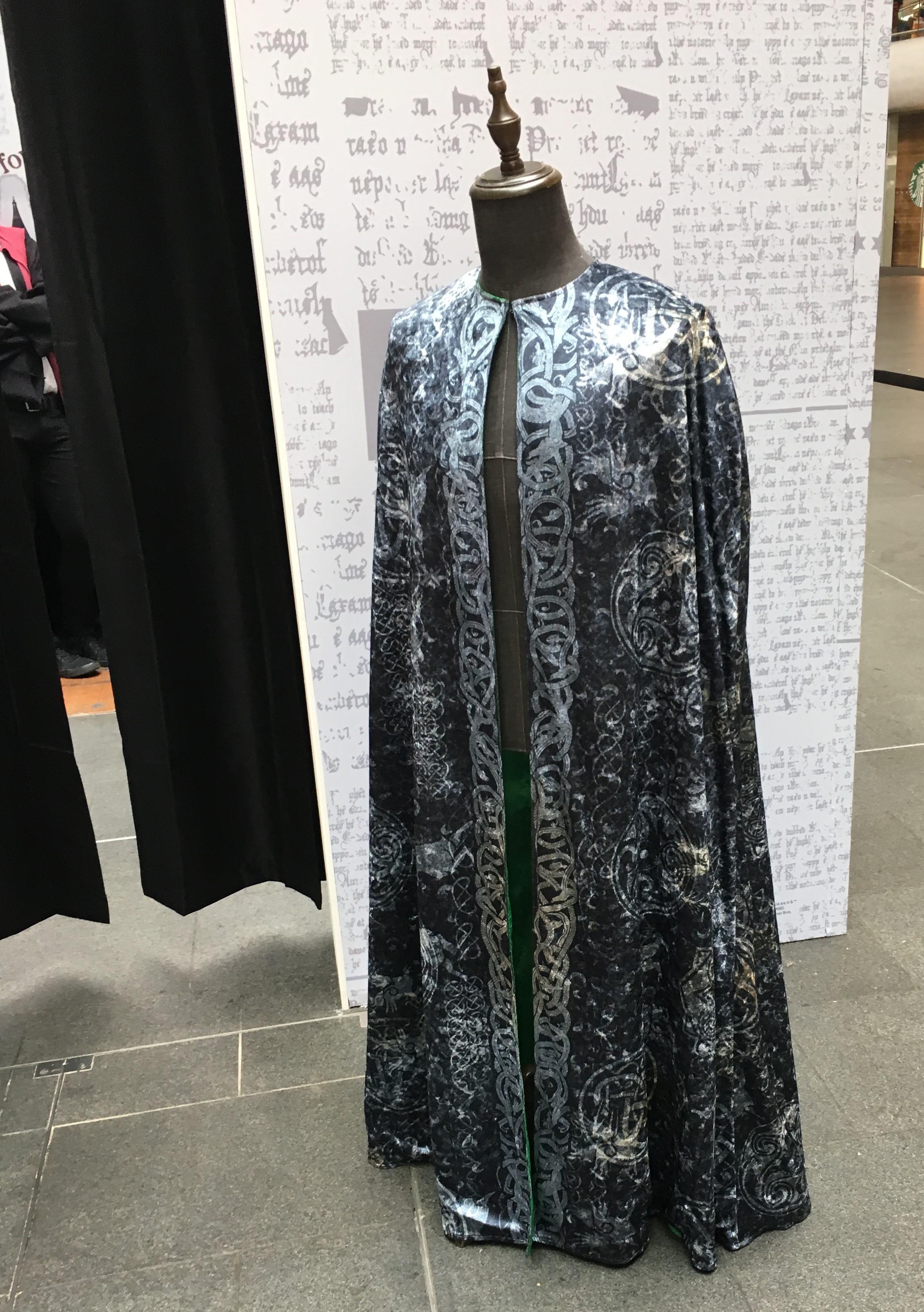Wow! Stuff invisibility cloak displayed on mannequin at product launch