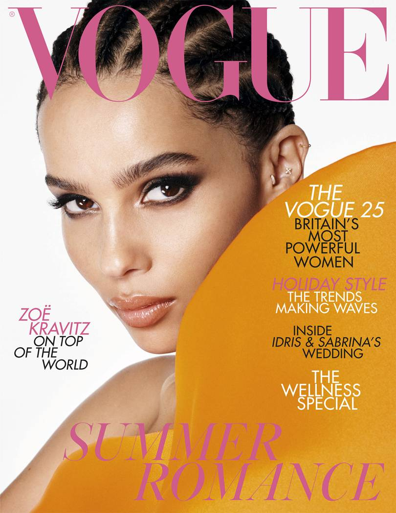 "Zoë Kravitz will be on the cover of the July edition of ""British Vogue""."
