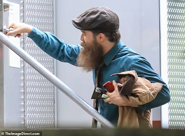 Radcliffe appears in a fake beard, making fans wonder whether his character will be connected to Reverend Richard Wayne Gary Wayne.