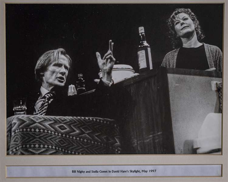 Bill Nighy is featured onstage at the Cambridge Arts Theatre in a photo from the theatre's historic archive.