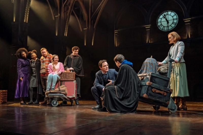 Jamie Ballard (Harry Potter) talks with Dominic Short (Albus Potter).
