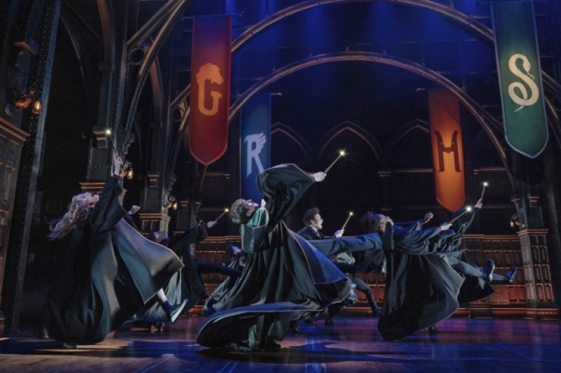 Pictured is a dance scene from the London production.