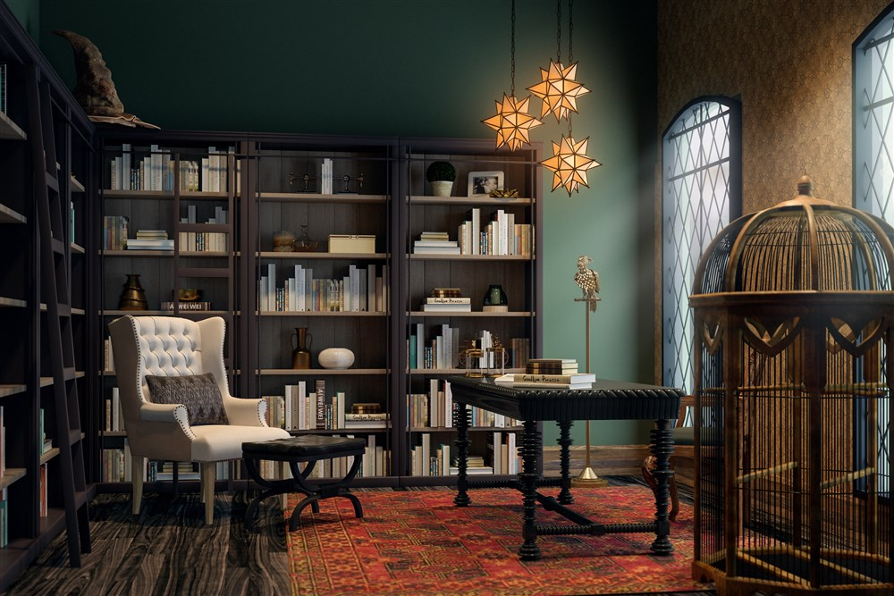 Modsy Creates Hogwarts Inspired Interior Design Mugglenet