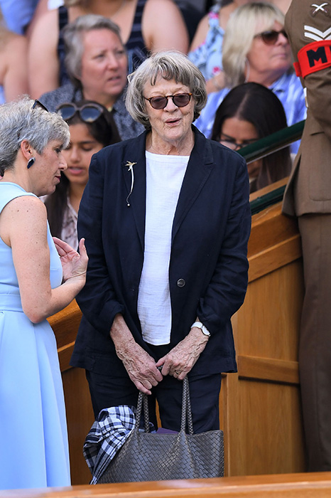 Dame Maggie Smith in the Royal Box at Wimbledon.