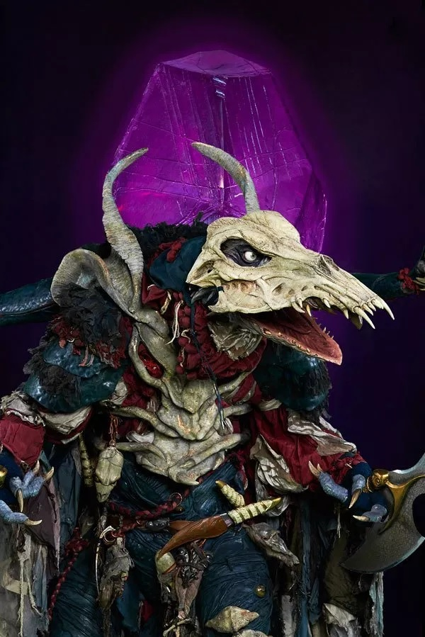 Pictured is Ralph Ineson's character, The Hunter, a Skeksis.