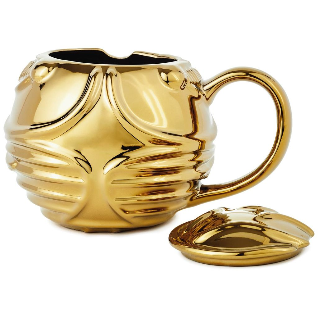 Harry Potter Golden Snitch Coffee Mug with detached lid