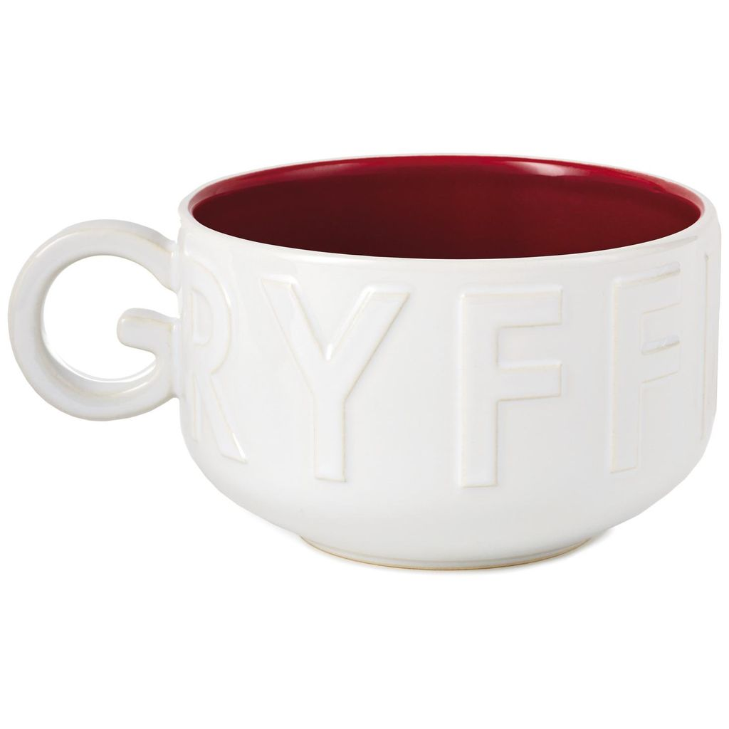 "Harry Potter Gryffindor Soup Mug, ""G""-shaped handle view"