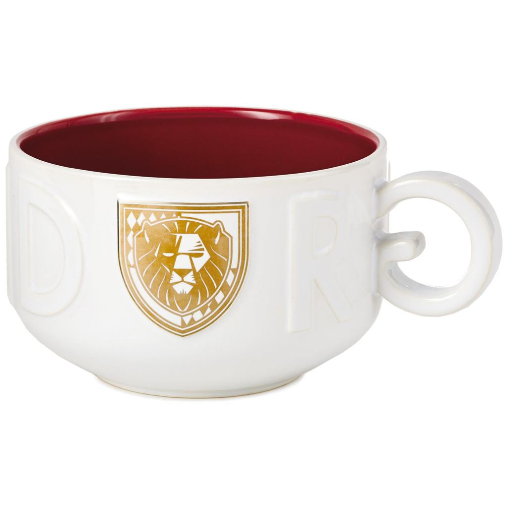 Harry Potter Gryffindor Soup Mug, showing gold and white lion
