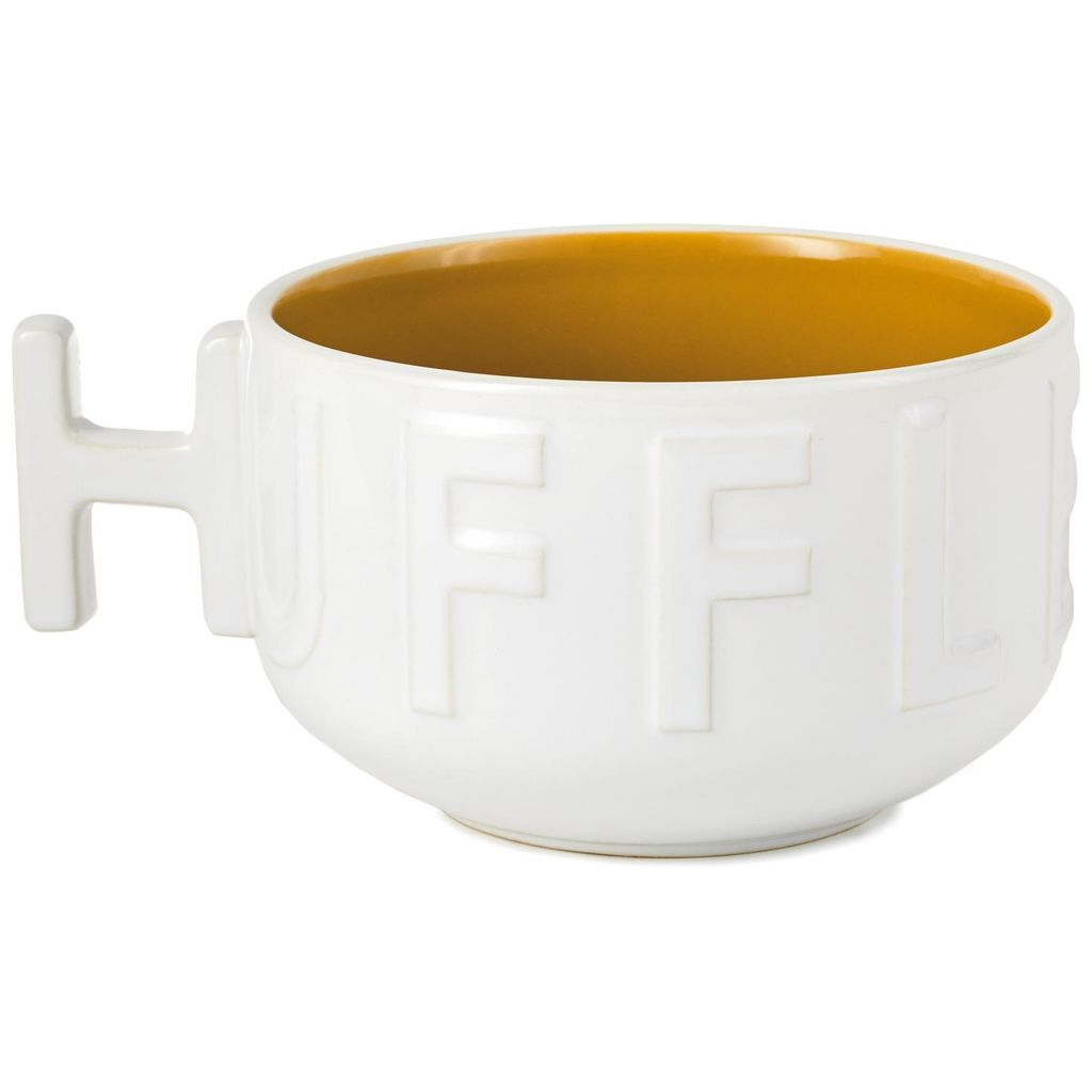 "Harry Potter Hufflepuff Soup Mug, ""H""-shaped handle view"