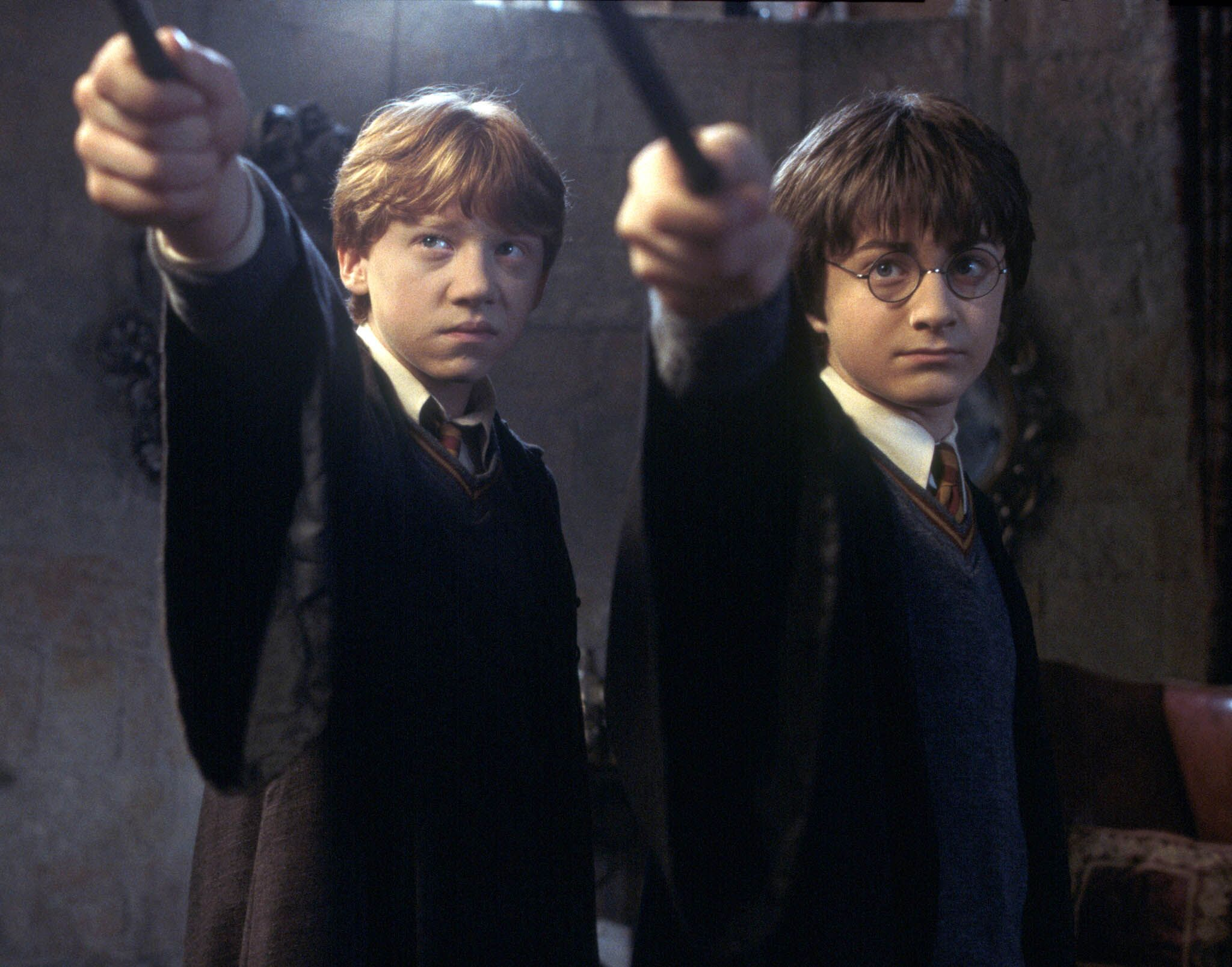 Harry and Ron Confront Gilderoy Lockhart
