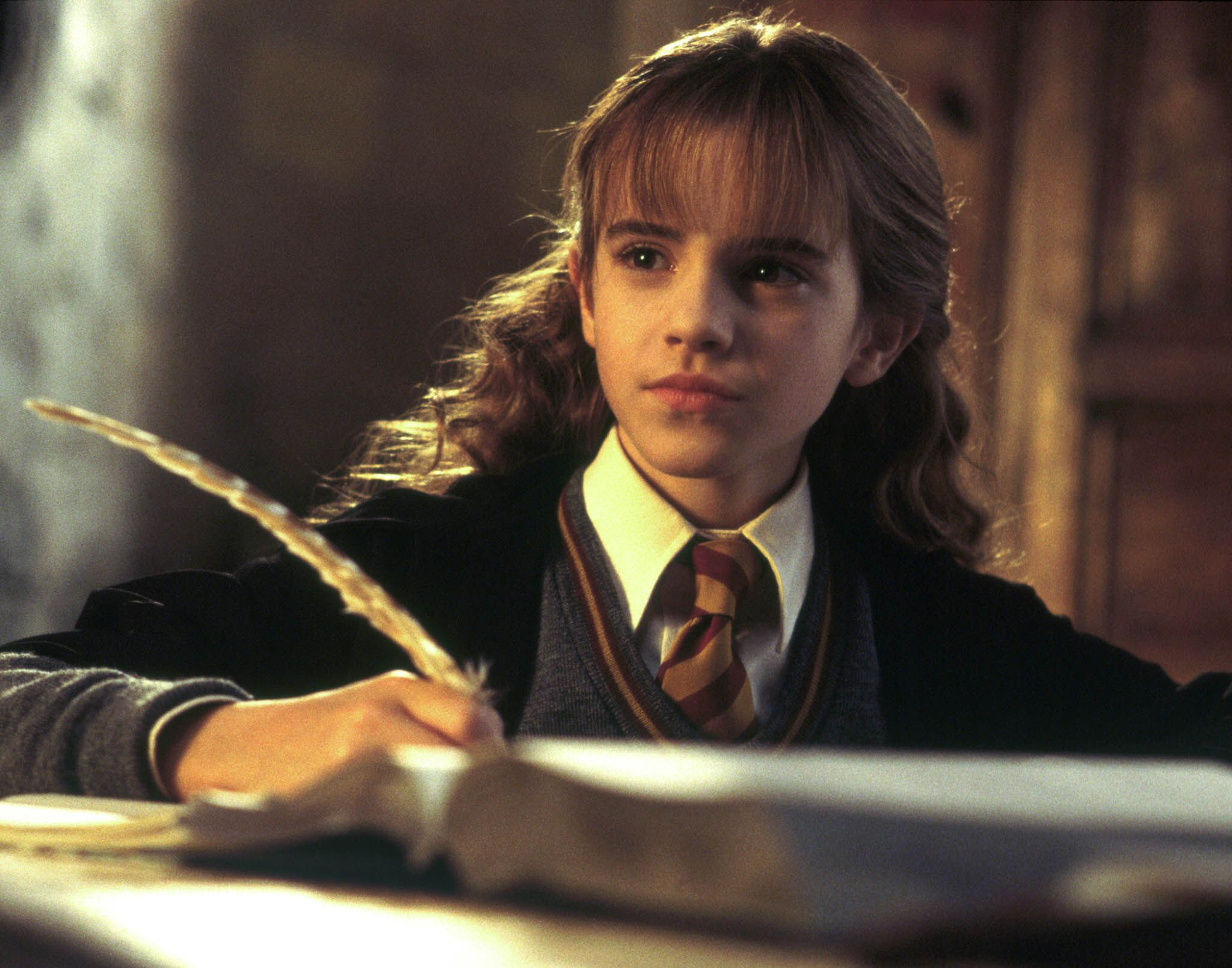 Hermione Doing Homework