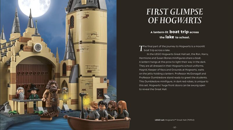 """Scenes like the """"First Glimpse of Hogwarts"""" will also include the corresponding LEGO set number."""