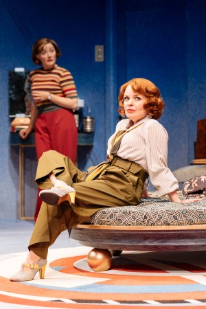 """Sophie Thompson, left, talks with Suzie Toase in """"Present Laughter""""."""