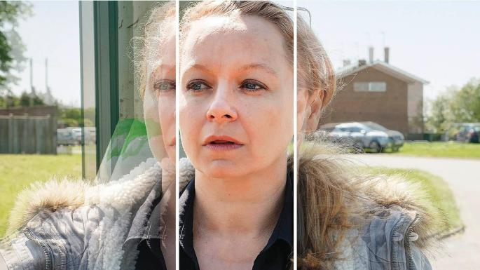 """Samantha Morton is pictured in a still from her recent drama """"I Am Kirsty""""."""