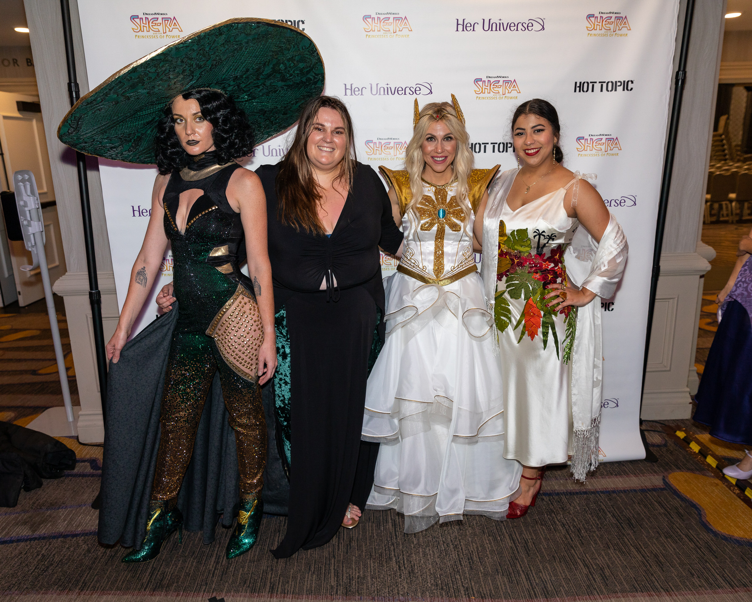Winners and model from Her Universe at San Diego Comic-Con 2019