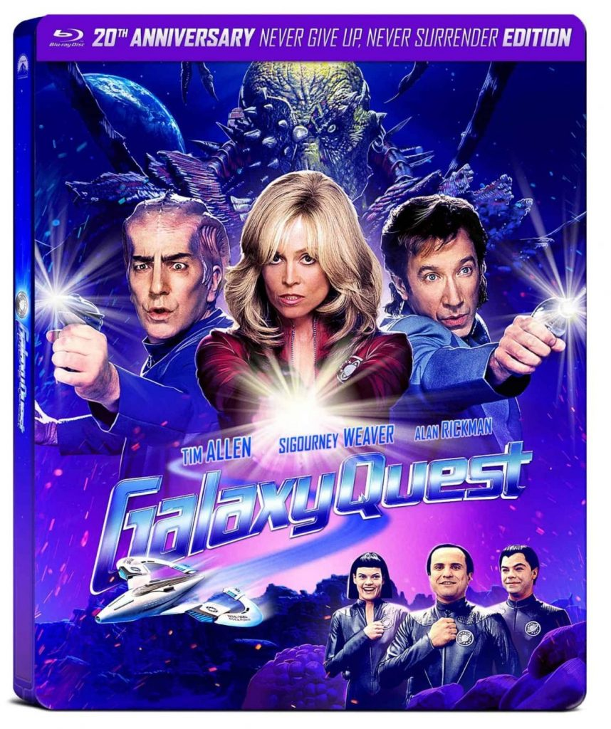 "Pictured is the cover of the 20th anniversary Blu-ray of ""Galaxy Quest""."