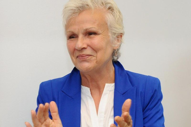 Dame Julie Walters smiles at the opening of the new My Sister's House center.