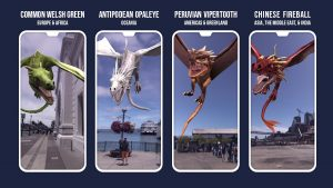 Photo of Harry Potter: Wizards Unite dragons which will appear in the app starting Labor Day weekend.