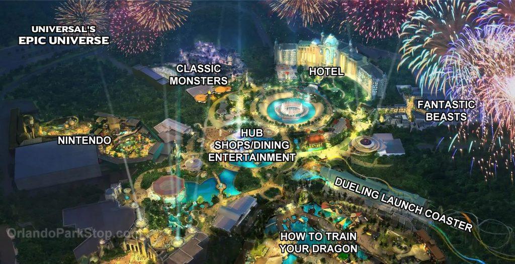Epic Universe Land Map