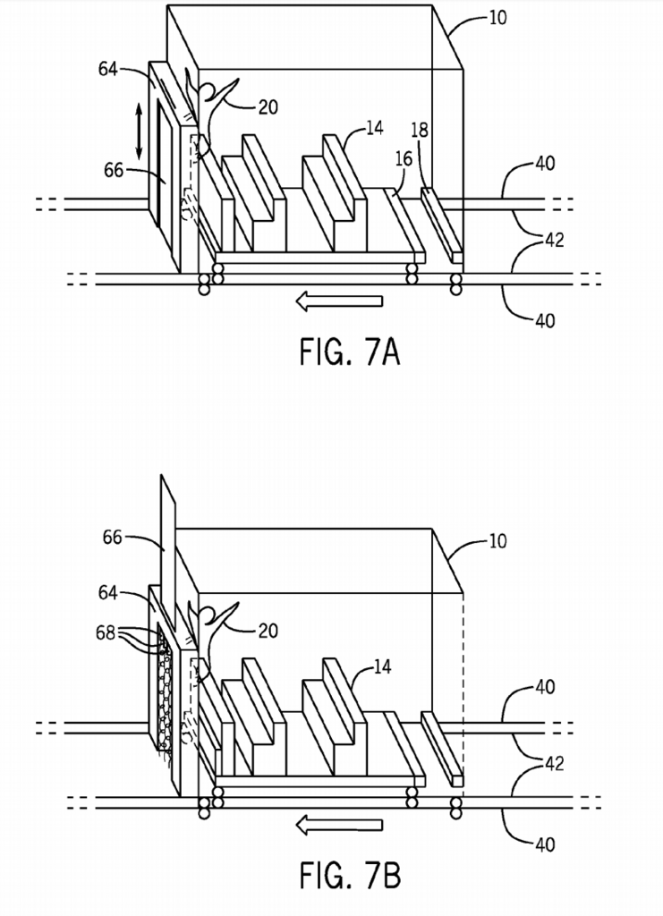 "Rumored Floo Network patent showing the ride vehicle and its ""room"" compartment"