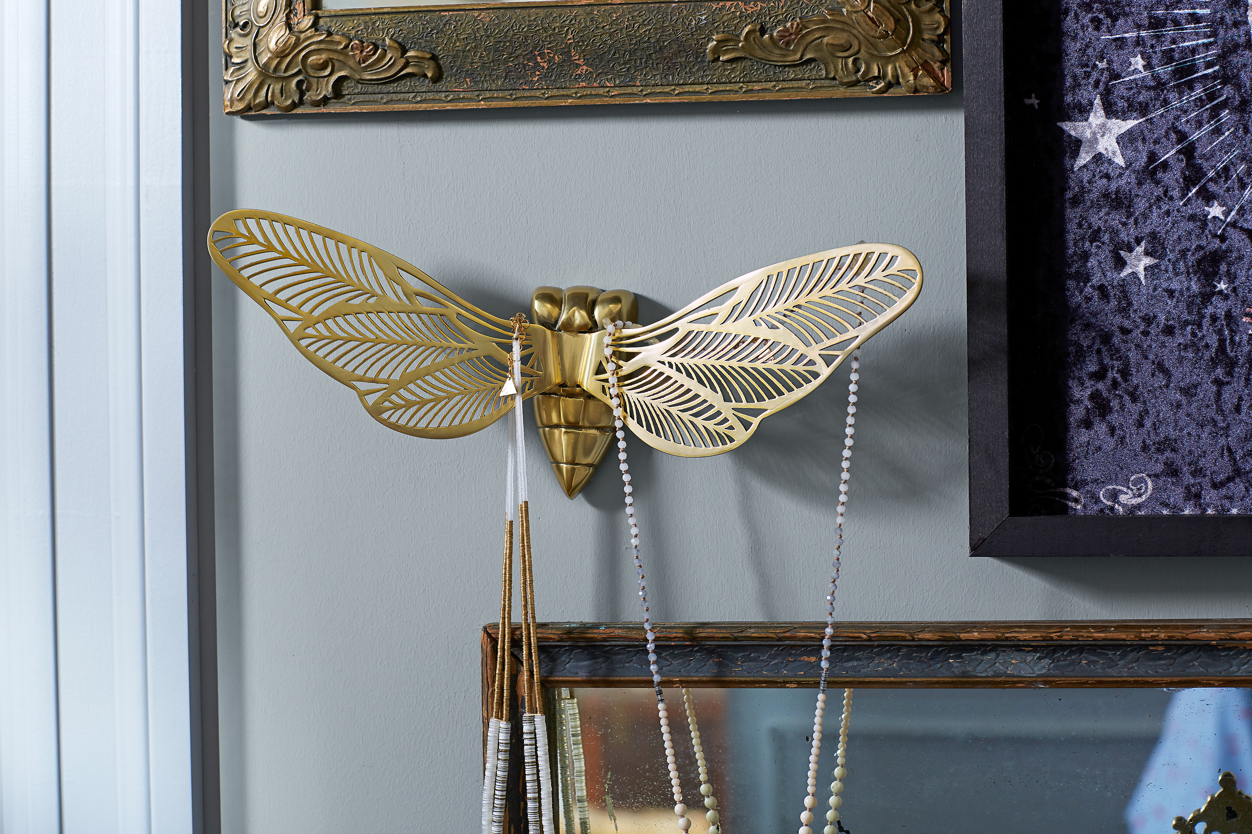 Moth Wall Jewelry Holders