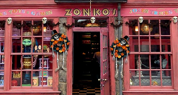 Zonko's decorated for Halloween.