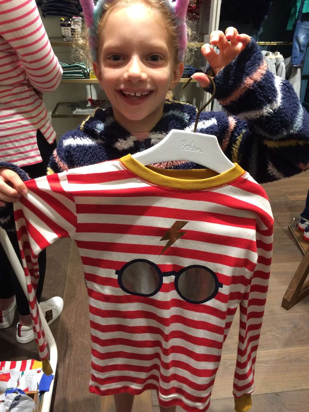 A simple glasses and scar design is featured on these pajamas, which cost £26 and are available in sizes 3 to 14 years.