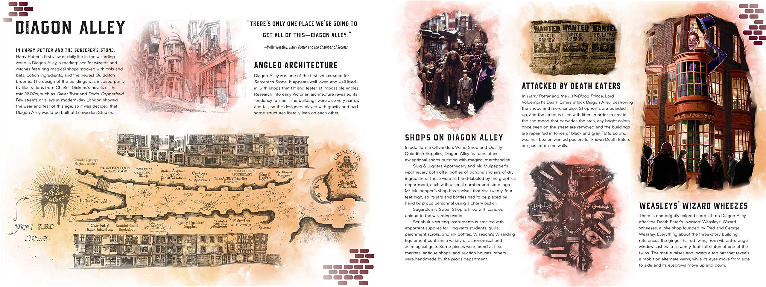 """Harry Potter: Magical Places: A Paper Scene Book"" provides backstory and information about each magical scene depicted."
