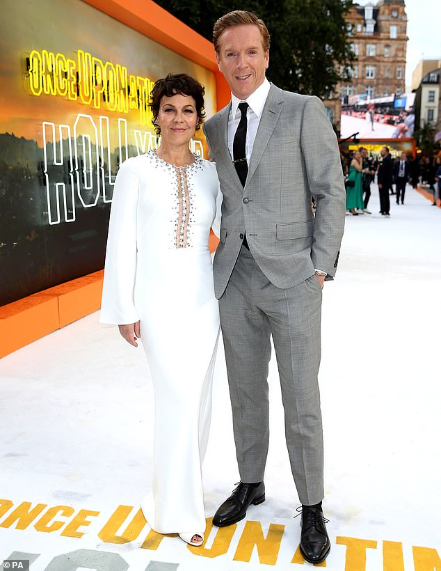 "Helen McCrory and husband Damian Lewis attend the London premiere of ""Once Upon a Time in Hollywood""."