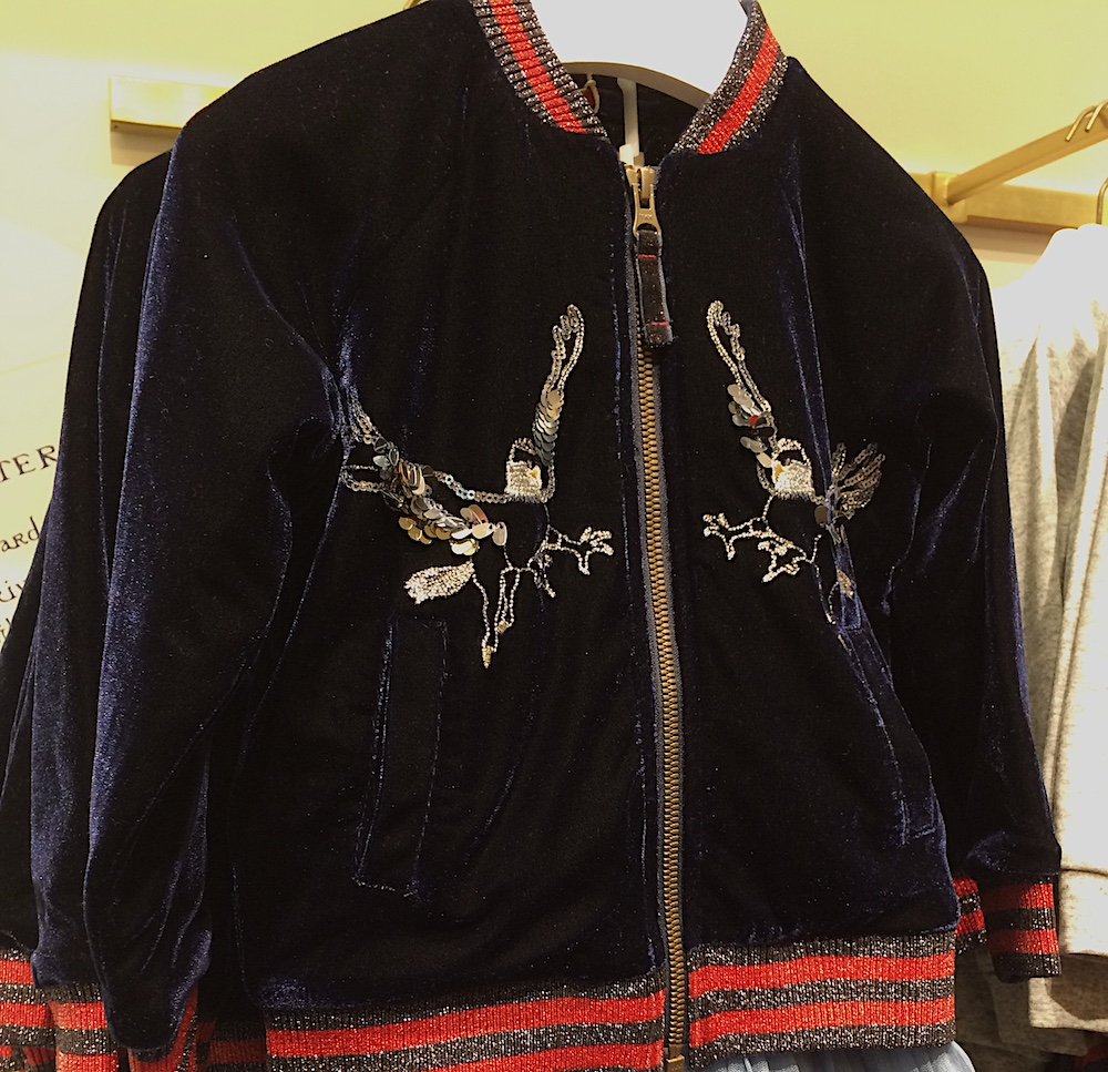 The bomber jacket has two very sparkly hippogriffs embroidered on the front and costs £50.