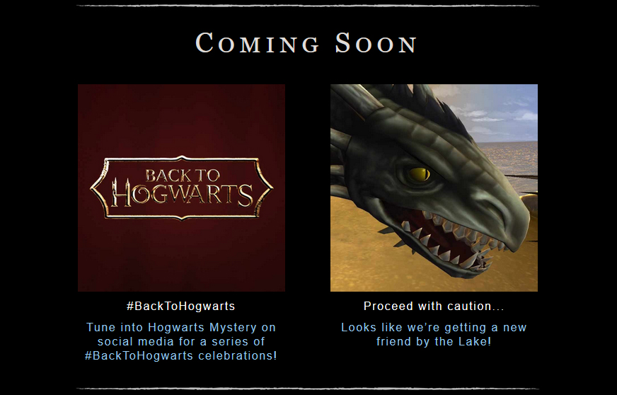"""Back to Hogwarts"" celebrations and a dragon at the lake are both coming soon in ""Hogwarts Mystery""."