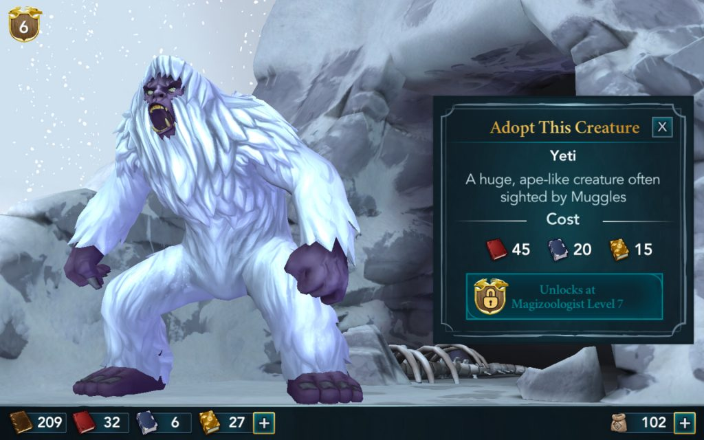 Things in the Rocky Mountains of the Magical Creatures Reserve just got a bit hairier with the introduction of a yeti!