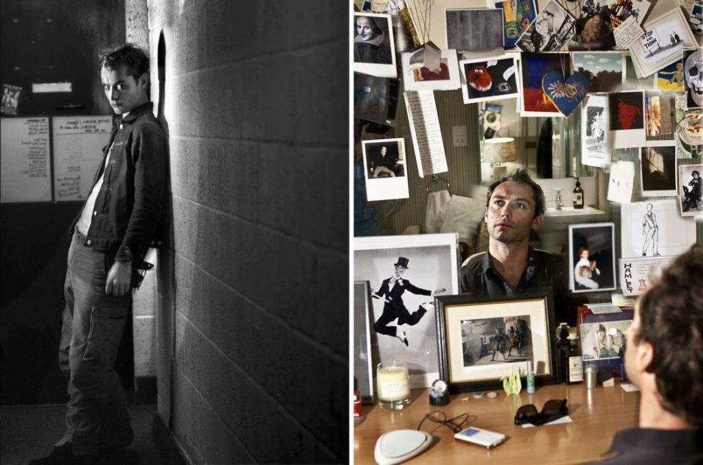 """Photos of Jude Law that will be featured in the upcoming exhibition """"The Half""""."""