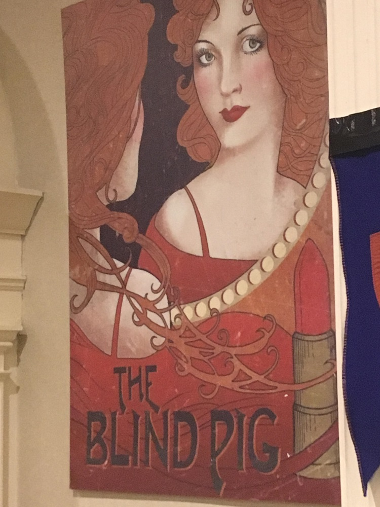 A banner for the Blind Pig