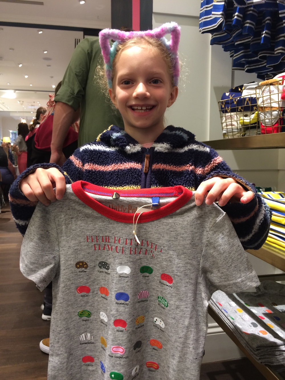This Bertie Bott's Every Flavour Beans T-shirt is available in sizes 2–3 years to 11–12 years and costs £18.