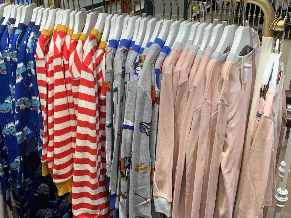 There are four pajama designs to chose from, two of which are also available as playsuits for newborn babies through three-year-old children.