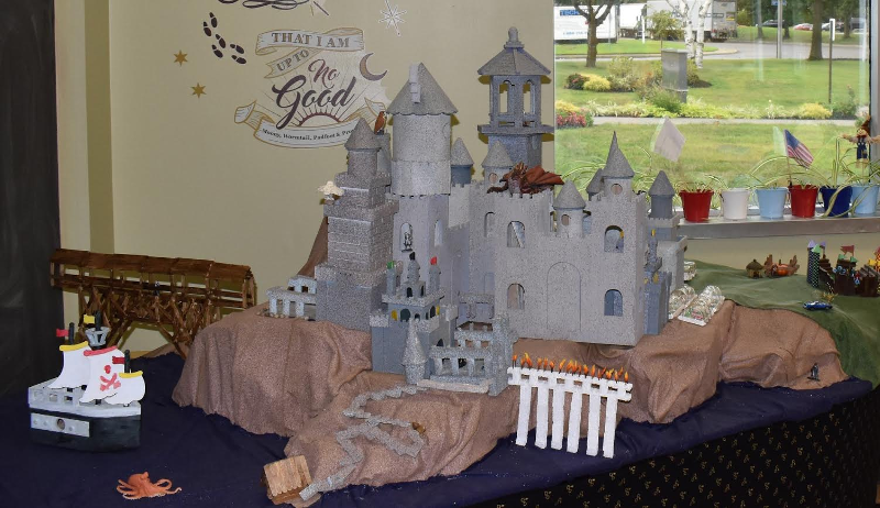 A model of Hogwarts Castle, as created by participants at SCO Family of Services' Day Hab Center in New York.