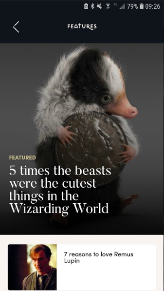 """Features for """"Fantastic Beasts"""""""