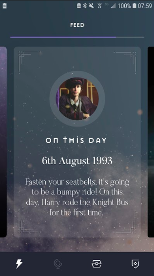 """""""On this day"""" pages show events in wizarding history."""