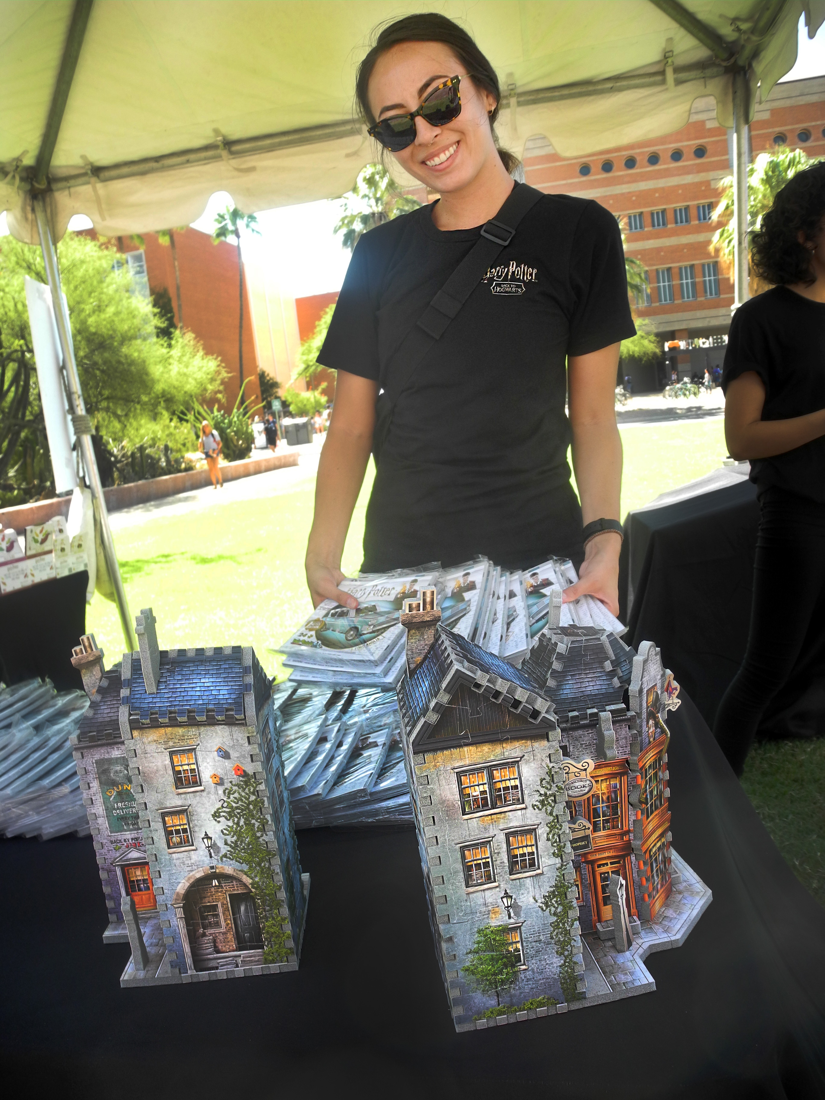 Workers at the Back to Hogwarts event at the University of Arizona were ready and waiting to hand out prizes and help students complete their quest.