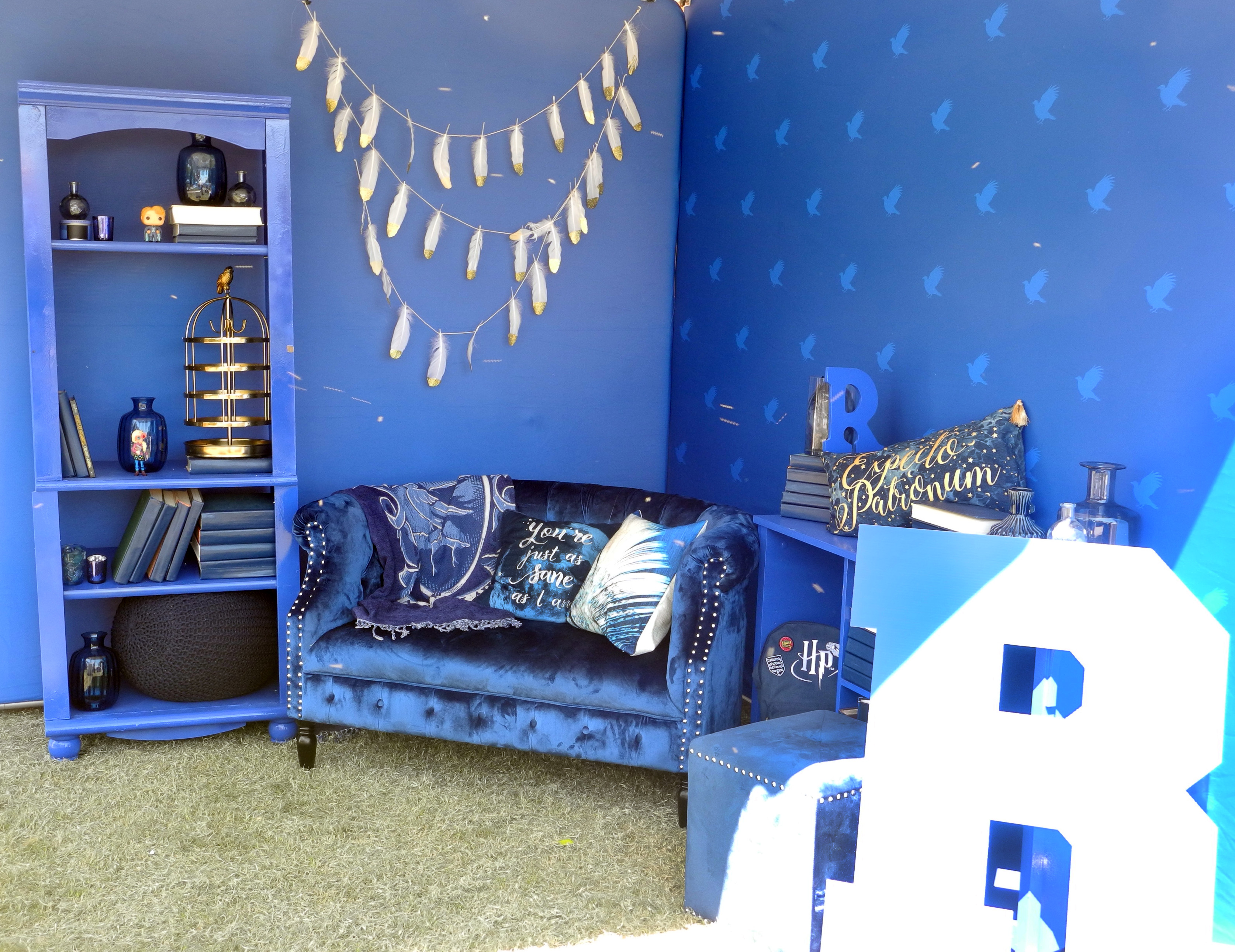 A miniature Ravenclaw common room was decked out with books and comfy pillows during a Back to Hogwarts event at the University of Arizona.